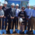 Renishaw Inc. President Leo Somerville (third from left) and members of the company's senior executive management team break ground on a new facility