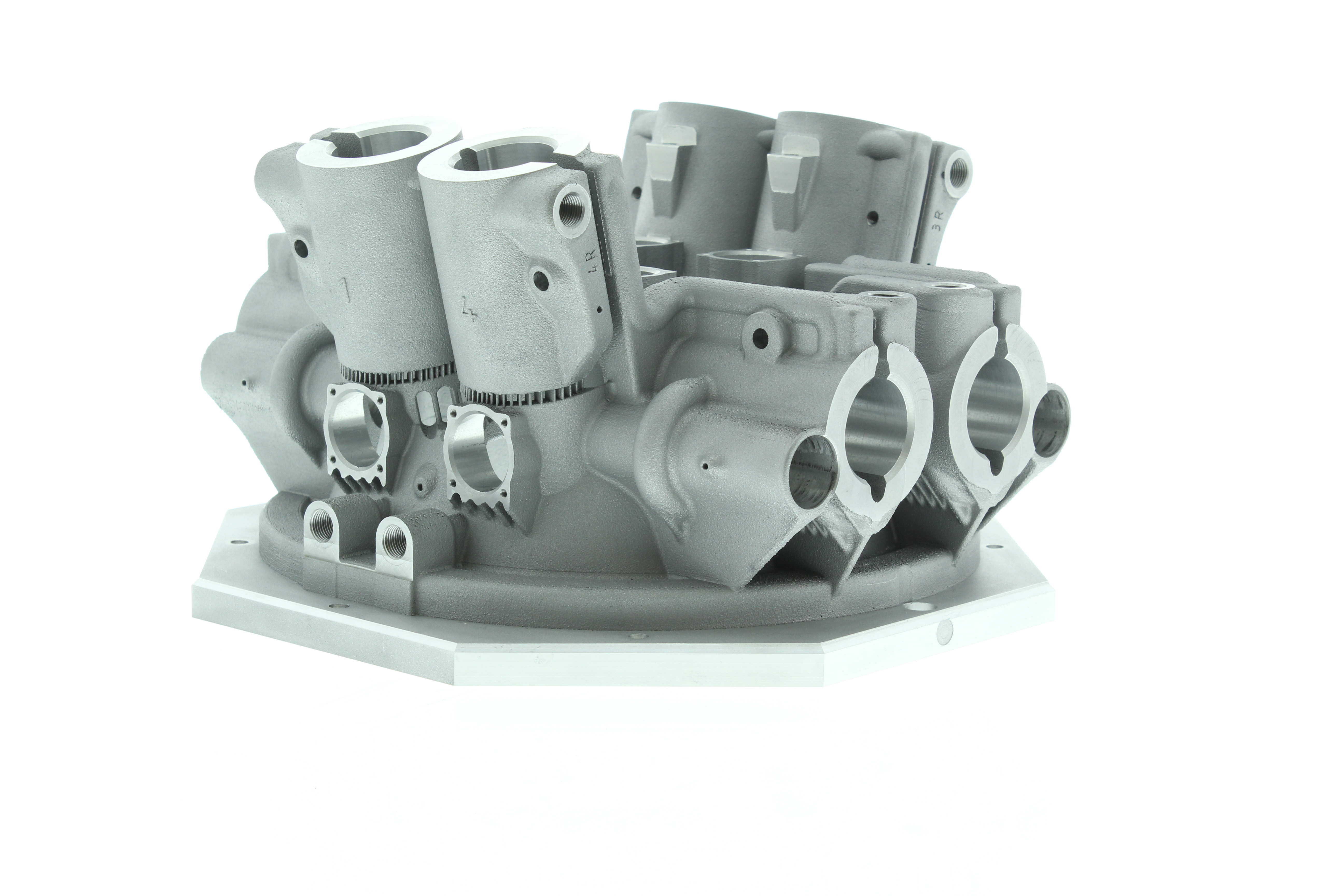 Additively manufactured galvo mounting for RenAM 500Q