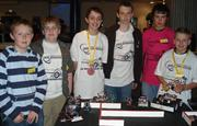 Students from John Hampden Grammar school, High Wycombe, compete in a school Micromouse competition