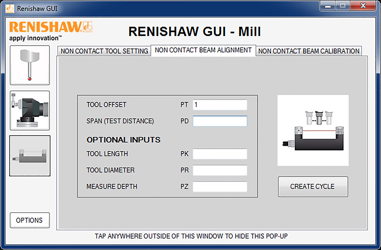 GUI for Okuma CNC machine tool controls