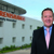 Rhydian Pountney with Renishaw's facility in Pune, India