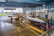 Concorde 216 moves into its purpose-built-hangar
