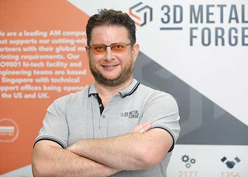 Matthew Waterhouse, CEO of 3D Metalforge