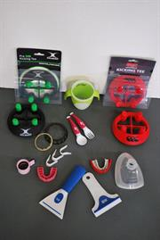 Injection moulded samples produced by Euromould