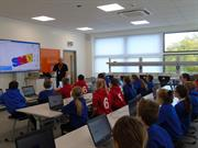 Working with schools at our education facility at Renishaw, South Wales