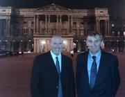 Andy Butter and Pete Hajdukiewicz outside Buckingham Palace