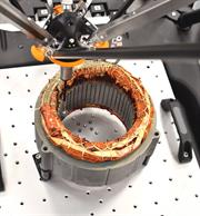 Equator gauging system inspecting EV stator