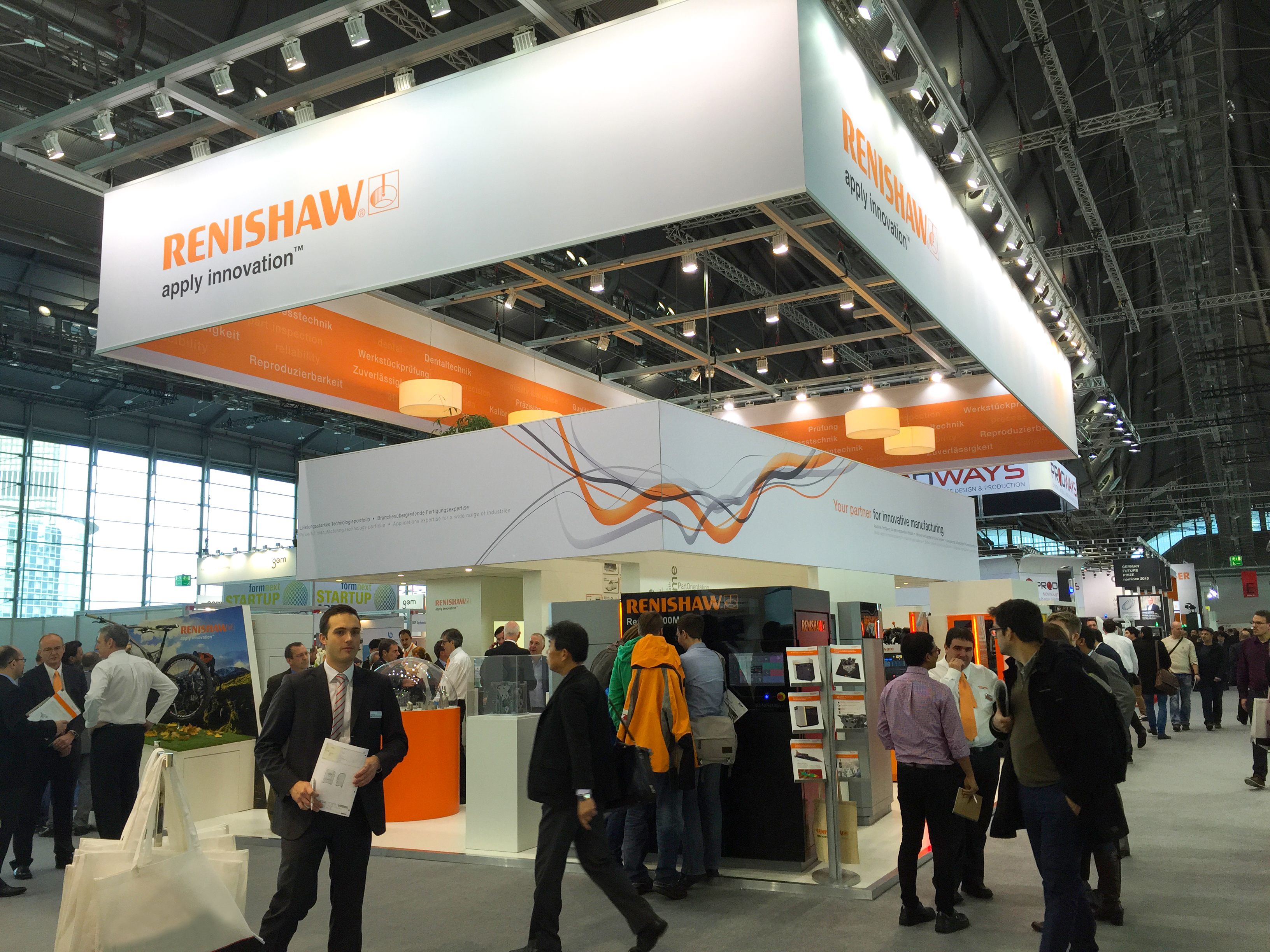 Exhibition Booth Frame : Renishaw uncovers the value of additive for