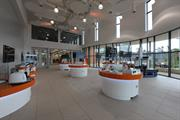The demonstration area of the Renishaw Innovation Centre contains examples from all of the company's metrology and healthcare product lines
