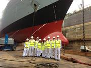 Renishaw Engineering Experience Students visit HMS Dauntless in 2013