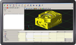 CAD model in MODUS software screenshot