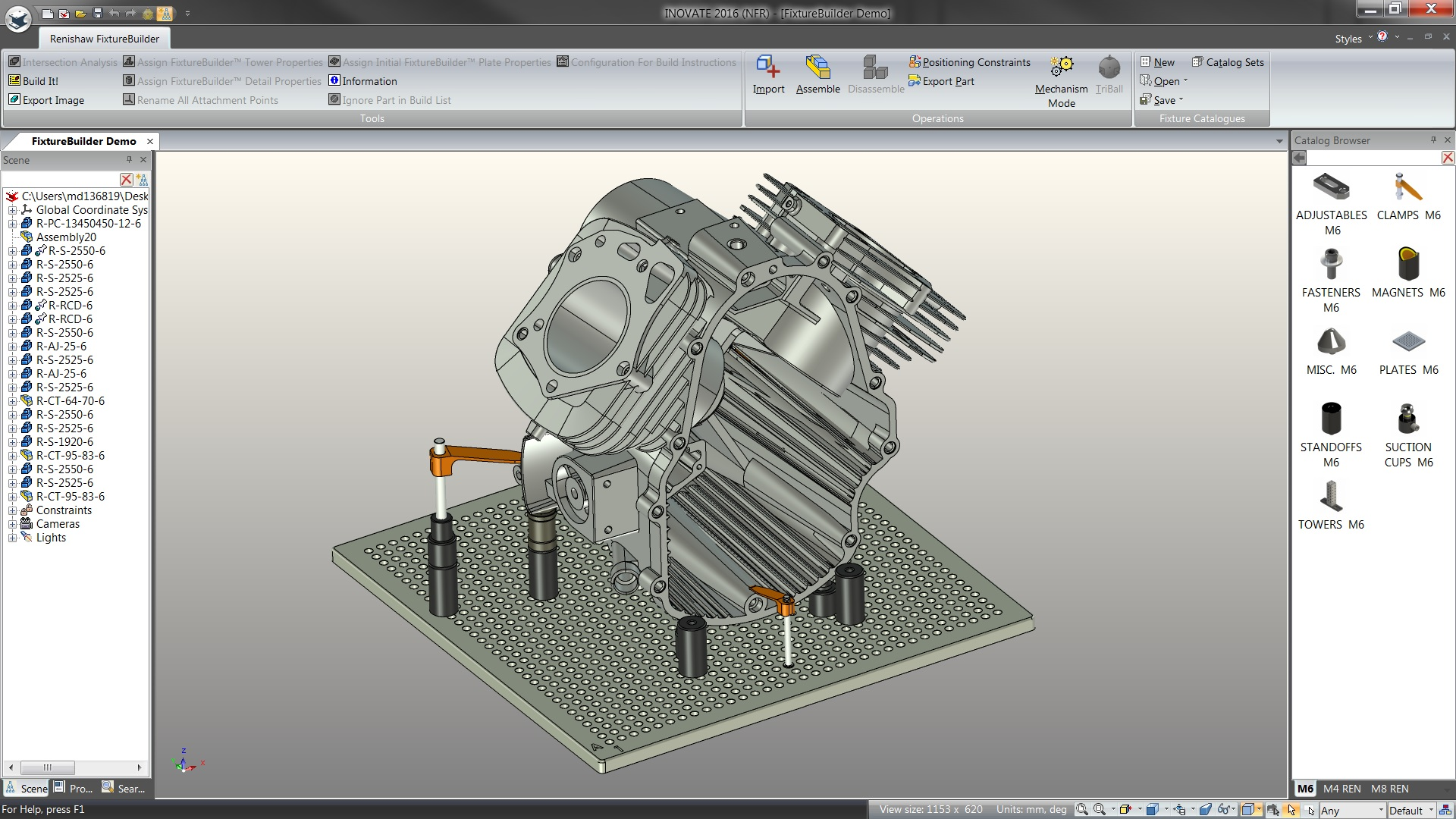 Renishaw fixturebuilder for Software cad 3d