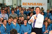 The Prime Minister holds a question and answer session with Renishaw employees