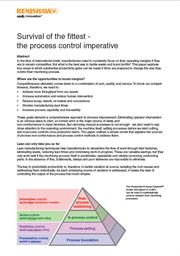 White paper:  White paper:  Survival of the fittest - the process control imperative