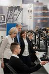Prime Minister Theresa May and Chancellor of the Exchequer Philip Hammond meet apprentices and graduates