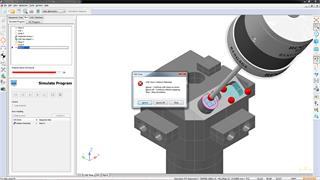 Program visualistion and collision detection: Renishaw OMV