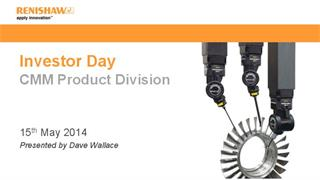 Presentation:  Investor Day 2014 - Co-ordinate measuring machine products
