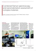 News release:  Combined Raman spectroscopy and nanoindentation assessment of complex materials
