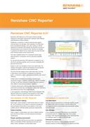 Flyer: Renishaw CNC Reporter version 6.01