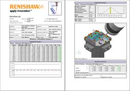 Report on measured features: Renishaw OMV