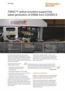 Case study: TONiC™ optical encoders support the latest generation of CMMs from COORD-3