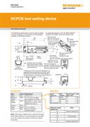 Data sheet: NCPCB tool setting device