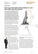 Feature article: Race to innovate: digital position feedback for Land Rover BAR's America's Cup boat