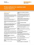 Data sheet: Probe software for machine tools: Program selection list