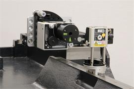 XK10 alignment laser system on machine casting