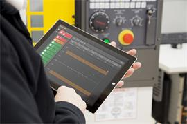 Reporter on a Windows® tablet with a Fanuc control_2