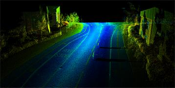 S250 LiDAR data obtained during a road survey