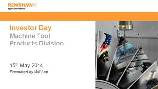 Investor Day 2014 - Presentation - Machine tool products