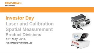 Presentation:  Investor Day 2014 - Laser calibration and spatial measurement