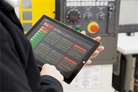Reporter on a Windows® tablet with a Fanuc control