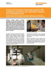 Case study:  Case story: Pioneers of stereotactic neurosurgery perform DBS implantation procedures with neuromate® robot