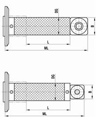 A-5555-1990 - M5 extension for adaptor plate, carbon fibre, ML 241.5 mm, DG/D 20 mm, for Zeiss applications [1]