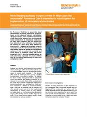 Case study: neuromate used in Epilepsy Surgery Centre in Milan