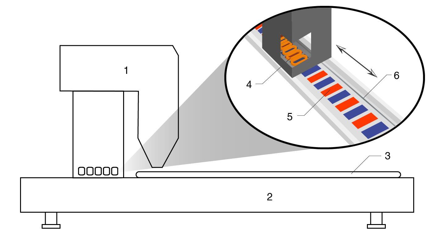 Laser cutting machine elevation view